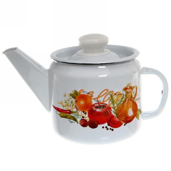 Чайник заварочный эмалированный 1л ″Итальянская кухня″ С-2707П2/4 купить оптом и в розницу