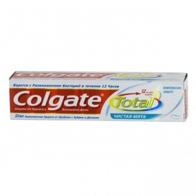 Зубная паста ″Колгейт″ Total 12 Чистая мята 100мл купить оптом и в розницу