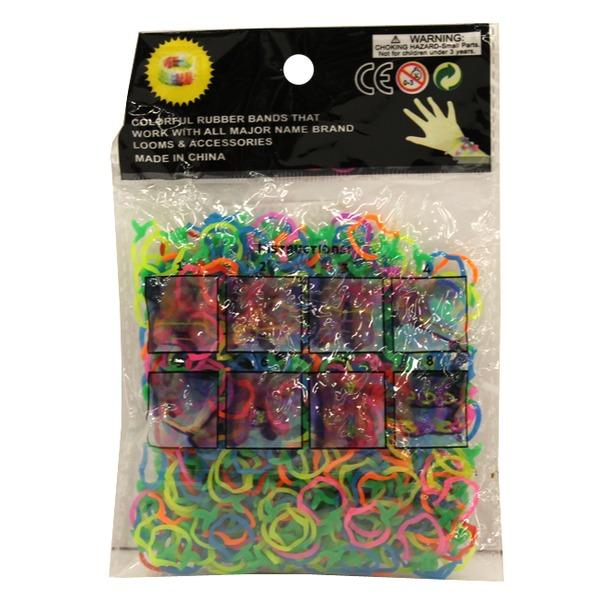 Набор ДТ Изготовление браслетиков Разноцветные 600 шт. 0020BN СМАЙЛЦЕНА купить оптом и в розницу