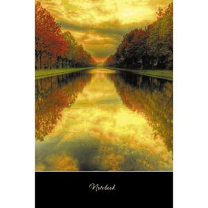 """Книжка записная А5, 100л, клетка, сшивка, твердая обложка, ЭКСМО, """"Пейзаж. Осенняя аллея"""" купить оптом и в розницу"""