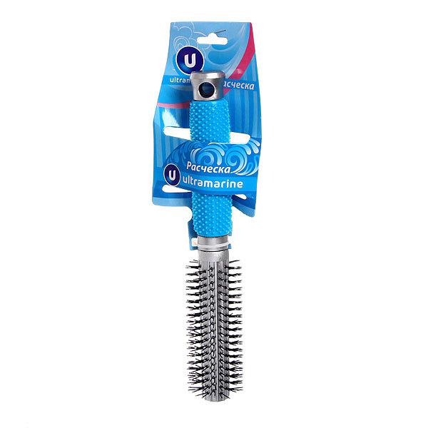 Расческа брашинг ″Ультрамарин″, цвет ручки голубой, 23,5 см купить оптом и в розницу