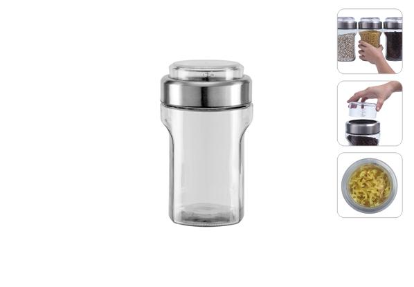 Ёмкость для сыпучих продуктов с мерным стаканом, 1,55 л, NADOBA, серия PETRA *12 купить оптом и в розницу
