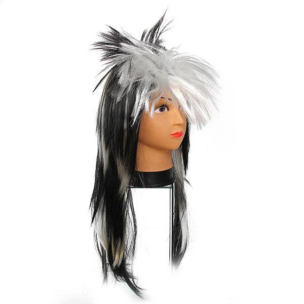 Парик карнавальный ″Модный стайл″ черно-белый цв 999-3 купить оптом и в розницу