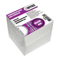 Блок д/запис. 90*90*90 iOffice, непроклеенный, белый 65г/м купить оптом и в розницу