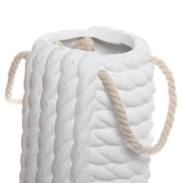 Ваза керамическая садовая ″Вязаная сумка″ 24см 141D купить оптом и в розницу