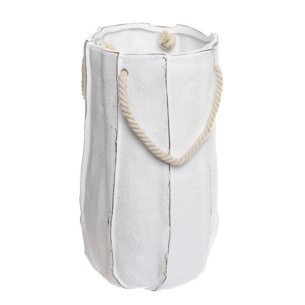 Ваза керамическая садовая ″Бумажный пакет″ 26см 163В купить оптом и в розницу