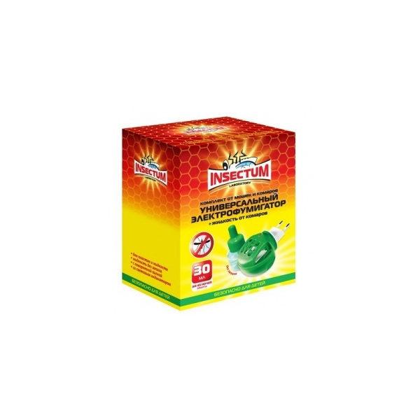Комплект (электрофумигатор и жидкость) от комаров Insectum купить оптом и в розницу