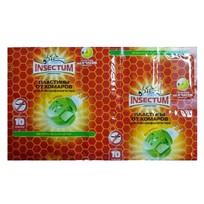 Пластины от комаров для эл.фумигатора Insectum 10 шт  433588/200 купить оптом и в розницу