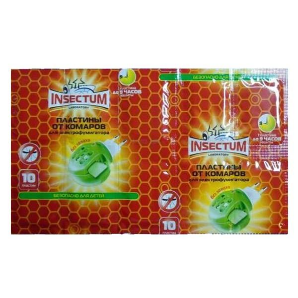 Пластины от комаров Insectum, набор 10 шт. купить оптом и в розницу