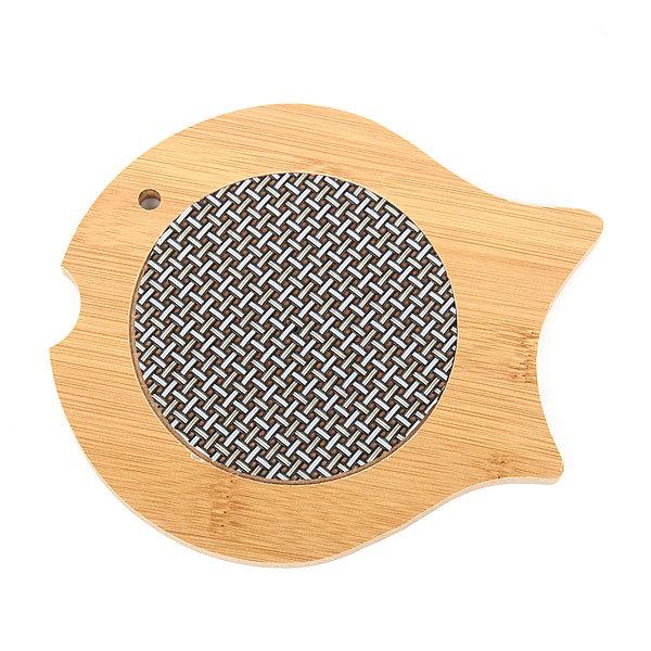 Подставка под горячее бамбуковая со вставкой ″Рыбка″ FA01-025 купить оптом и в розницу