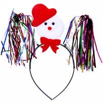 Ободок карнавальный ″Снеговичок″ дождик, 22*17см купить оптом и в розницу