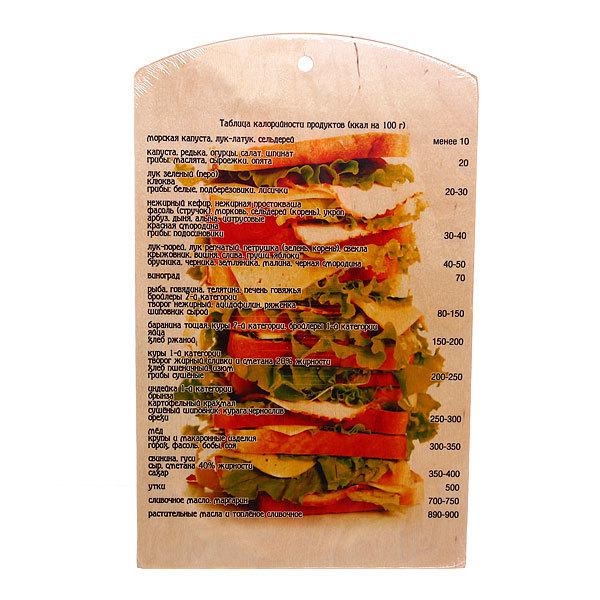 Доска разделочная сувенирная 25*40*0,8см ″Сендвичи″ темная купить оптом и в розницу