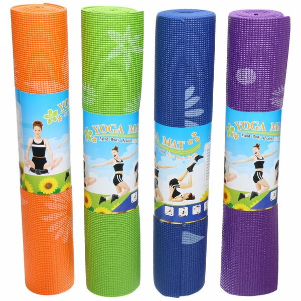 Коврик для йоги с принтом 5 мм (173х61х0,5) купить оптом и в розницу