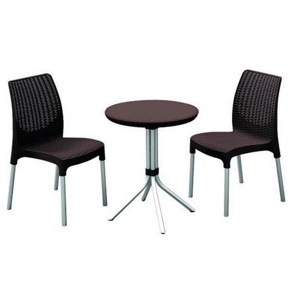 Набор (два стула + стол) Chelsea set, коричневый купить оптом и в розницу