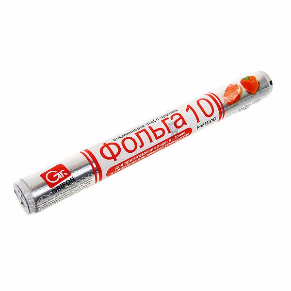 Фольга алюминиевая особо прочная 10м*29см в пленке GRIFON купить оптом и в розницу