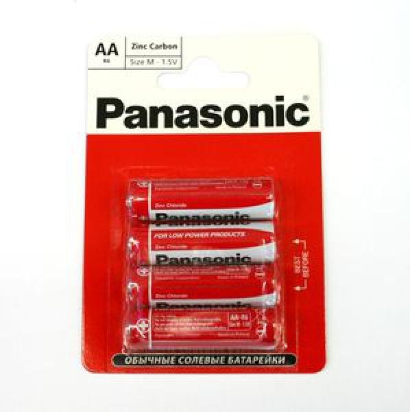 Элемент питания Panasonic  Zinc Carbon R06RZ блистер 4, 1.5В (1/12) купить оптом и в розницу