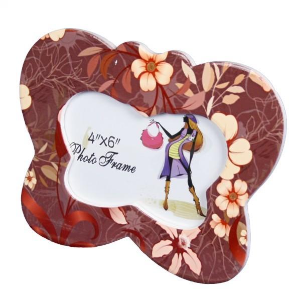 Фоторамка из керамики, в форме бабочки 10*15 см купить оптом и в розницу