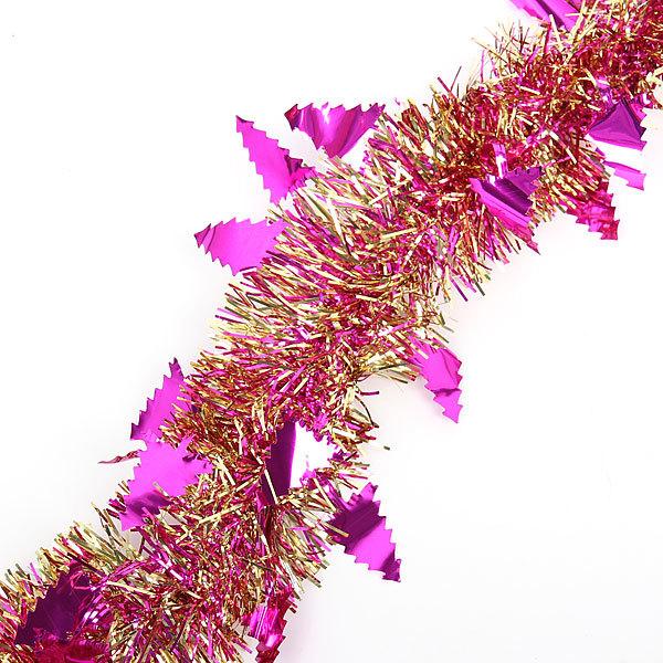 Мишура новогодняя 2 метра 6см ″Елочки″ розовый купить оптом и в розницу