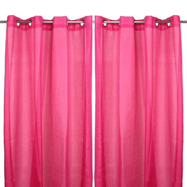 Шторы Лён 140*240см розовые купить оптом и в розницу