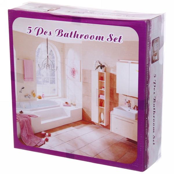 Набор для ванной из 5-ти предметов керамический, праздничный букет со стразми купить оптом и в розницу