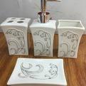 Набор для ванной из 4-х предметов керамический B13556 купить оптом и в розницу