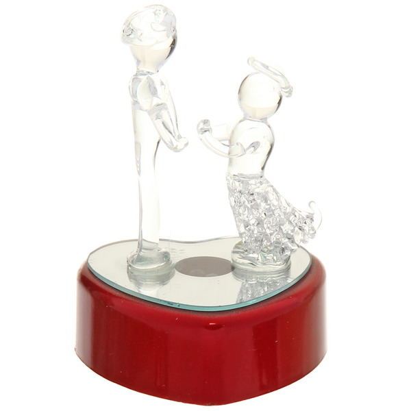 Фигурка из стекла ″Пара на сердце″ 11 см купить оптом и в розницу