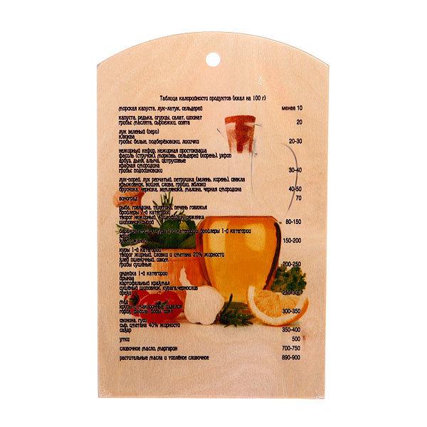 Доска разделочная сувенирная 18*30*0,8см 56509 купить оптом и в розницу