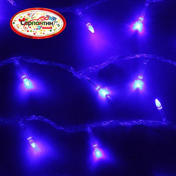 Гирлянда светодиодная 9,5м,100 ламп LED, Синий, 8 реж, прозр.пров., с возм.совмещ. купить оптом и в розницу