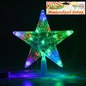 Звезда для елки светодиодная, 16 ламп LED,18,5см, RG/RB(красный, зеленый/красный,синий), провод 2 м купить оптом и в розницу