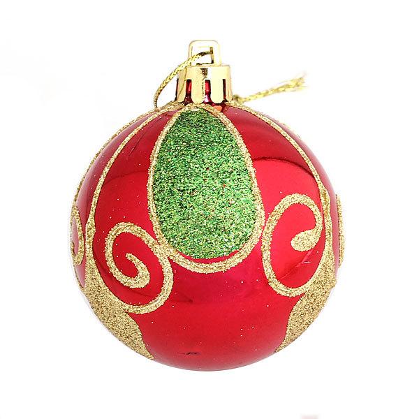 Новогодние шары ″Ассорти новогоднее″ 6см (набор 3шт.) купить оптом и в розницу