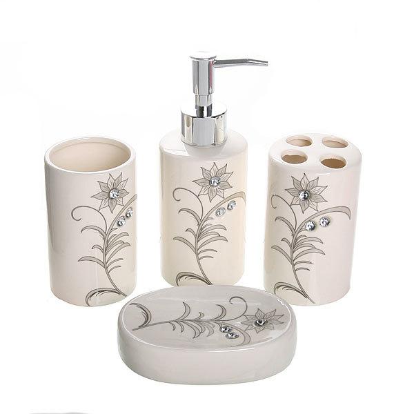 Набор для ванной из 4-х предметов керамический B14181 купить оптом и в розницу