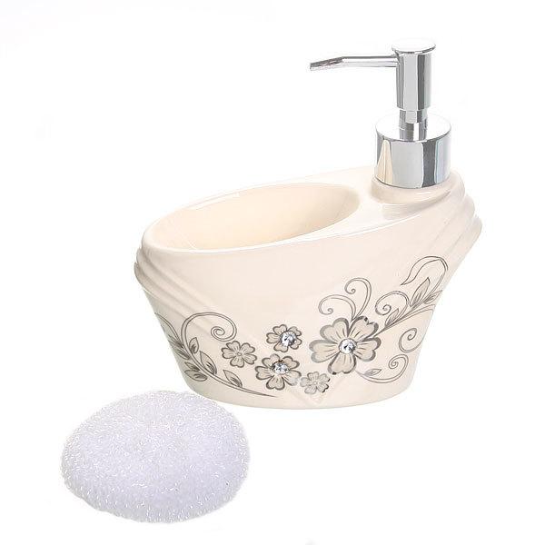Дозатор для жидкого мыла с подставкой под губку B14193 купить оптом и в розницу