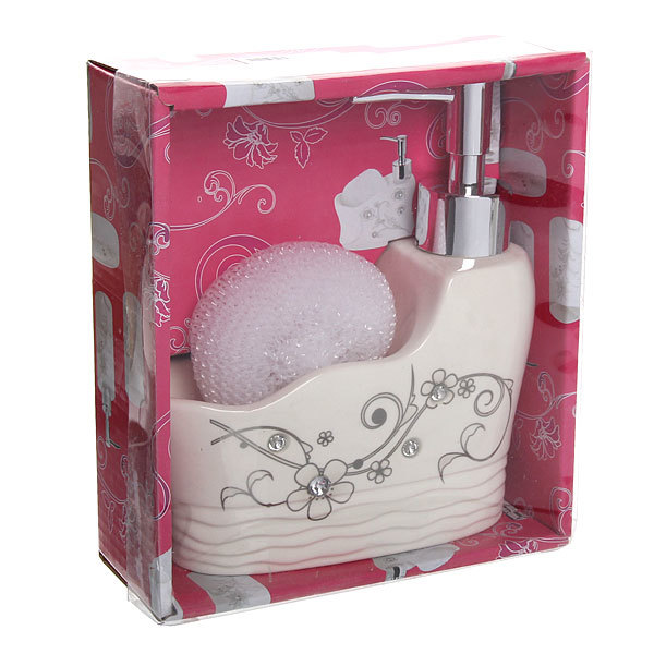 Дозатор для жидкого мыла с подставкой под губку B14191 купить оптом и в розницу