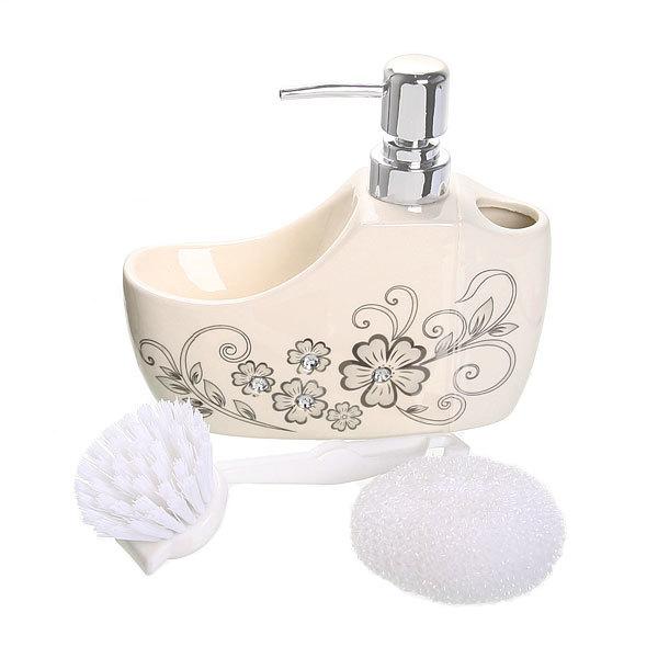 Дозатор для жидкого мыла с подставкой под губку B14199 купить оптом и в розницу