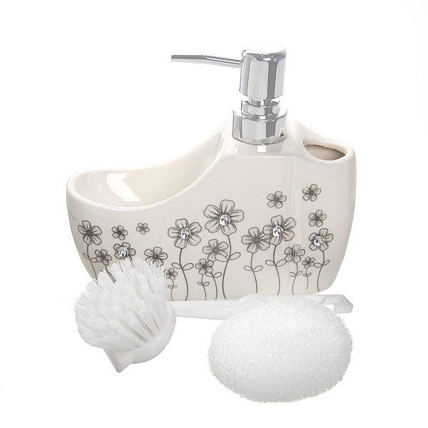 Дозатор для жидкого мыла с подставкой под губку B14198 купить оптом и в розницу