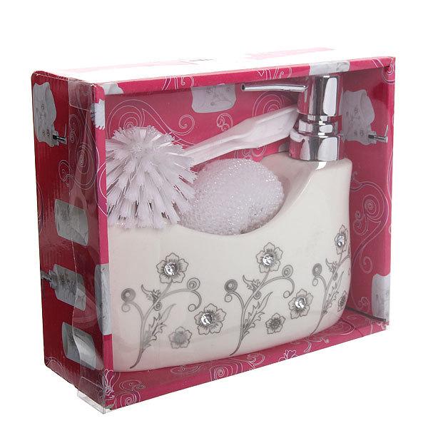 Дозатор для жидкого мыла с подставкой под губку B14196 купить оптом и в розницу