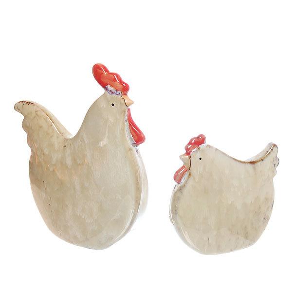 Статуэтки керамические, набор 2шт ″Семейка пташек″, 13см, 20см купить оптом и в розницу