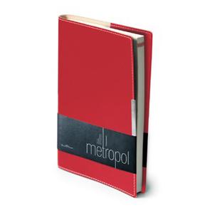 Ежедневник б/дат А5 BV Metropol красный купить оптом и в розницу