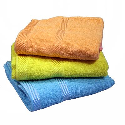 Махровое полотенце 30*50см гладкокрашенное 57127 купить оптом и в розницу
