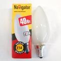 Лампа накаливания Navigator NI-В-40Вт-E14-230В-FR матов.свеча (10/100) купить оптом и в розницу