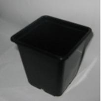 Горшок для рассады квадратный черный 0,5л 9*9*10 см купить оптом и в розницу