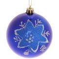 Новогодние шары ″Снежинка″ 8см (набор 3шт.) купить оптом и в розницу