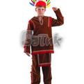 Карнавальный костюм ″Индеец″ (рубаха, брюки, диадема из перьев, лук, стрелы), размер 36 купить оптом и в розницу