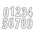 Термоаппликация Номер на футболку 004 (белый, большие цифры: 0-9, маленькие: 0-9) купить оптом и в розницу