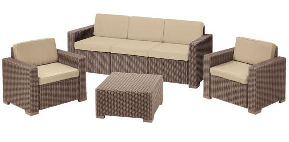Набор мебели California 3 seatery (2 стула, диван макс, стол) капучино купить оптом и в розницу