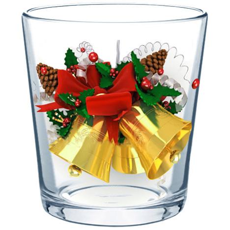 Набор стаканов 3шт 290мл ″Новогодний подарок″ купить оптом и в розницу