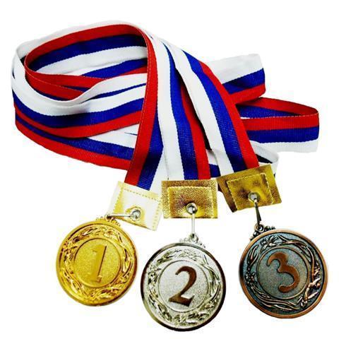 Медаль с лентой Россия 3 место (большая) d-60 (В7-130) купить оптом и в розницу