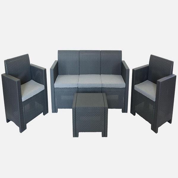 Комплект садовой мебели  (искусственный ротанг)  Nebraska 3 Set Nebraska H Цвет венге. купить оптом и в розницу