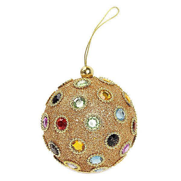Новогодний шар ″Царское золото″ 10см купить оптом и в розницу