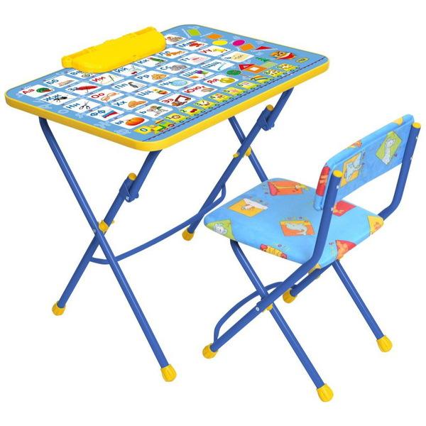 Набор детской мебели ″Никки.Азбука″ складной, с пеналом, мягкий стул КУ2/9 купить оптом и в розницу